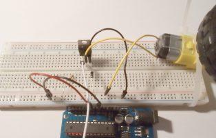 Motor met Arduino en MOSFET